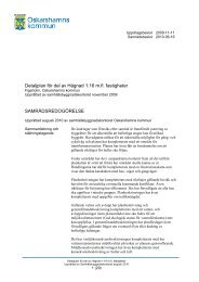 Samrådsredogörelse - Oskarshamns kommun