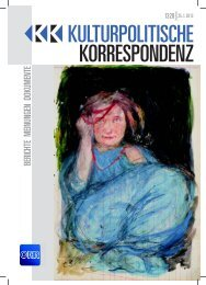 Ausgabe 1328 als PDF zum Download - Kulturportal West Ost