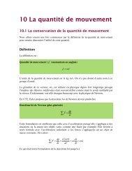 10 La quantité de mouvement - Collège Mérici