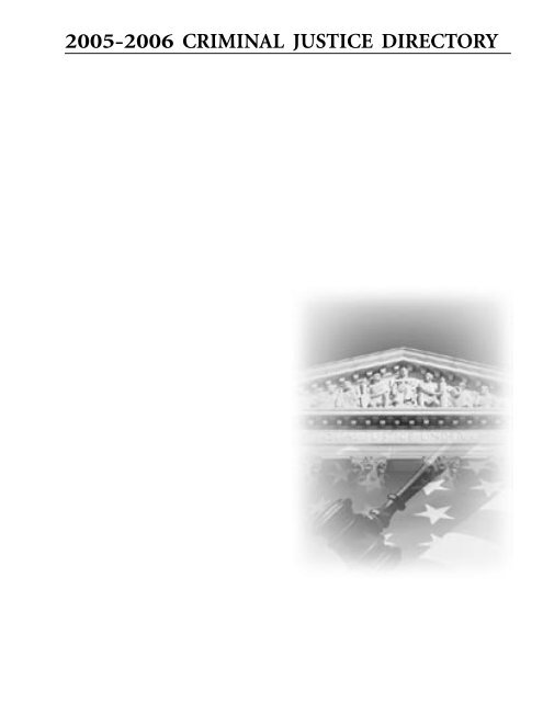 2005-2006 criminal justice directory - Florida Prosecuting Attorneys ...