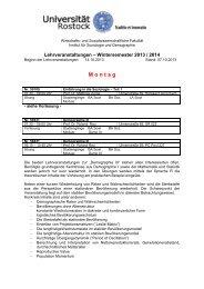 Wintersemester 2013/2014 - Wirtschafts - Universität Rostock