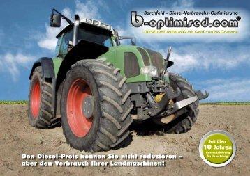 aber den Verbrauch Ihrer Landmaschinen! - Diesel-Verbrauchs ...