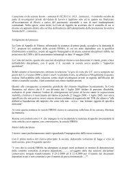 Cassazione civile sezione lavoro - sentenza 01.02.2012 n ... - sulpm