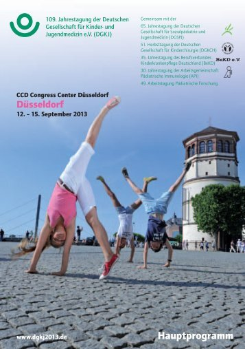 Hauptprogramm - 109. Jahrestagung der DGKJ