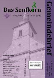 Gemeindebrief 2013-1 - Evangelische Kirchengemeinde Nieder-Moos