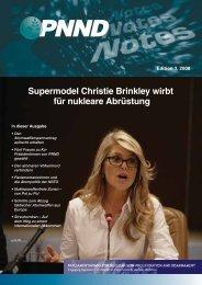 Supermodel Christie Brinkley wirbt für nukleare Abrüstung