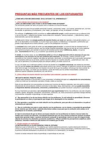 PREGUNTAS MÁS FRECUENTES DE LOS ESTUDIANTES - Ugel 05