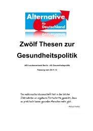 Zwölf Thesen zur Gesundheitspolitik - Alternative für Deutschland ...