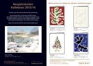 Neujahrskarten Kollektion 2013/14 - Kinder in Not