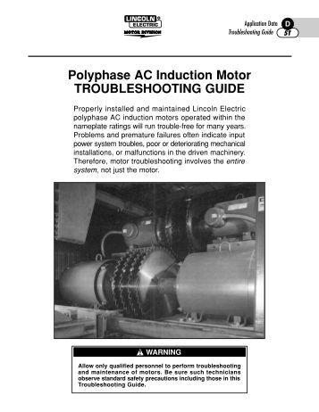 Sample troubleshooting chart 3 phase induction motor 20k pdf for 3 phase motor troubleshooting