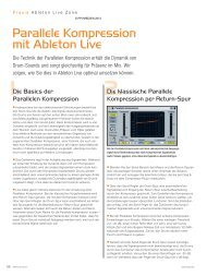 Parallele Kompression mit Ableton Live - MUSIC STORE professional