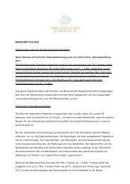 MEDIENMITTEILUNG Erfolgreiches Jahr für das Kantonsspital ...