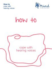 cope with hearing voices - Mind