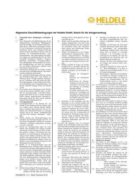 Allgemeine Geschäftsbedingungen - Wartung ... - Stromtankstelle