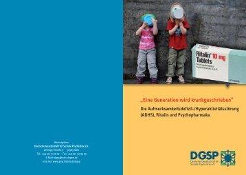 Broschu re Memorandum Ritalin 2013_Layout 1 - DGSP