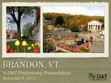 V-DAT Brandon - Community Charrette Presentation