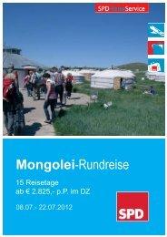 Mongolei Folder 3-Seiter FFR