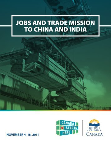 Premier's Mission Report - Trade and Invest British Columbia