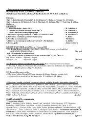 Zápis z jednání OV KČT ÚK- březen 2013 - KČT oblast Ústecký kraj