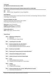 Protokoll der Vollversammlung der Studierendenschaft am 19.06.2013