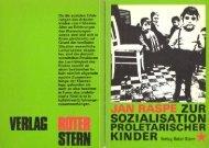 Zur Sozialisation proletarischer Kinder - Social History Portal