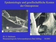 Epidemiologie der Osteoporose - Rheumapraxis Bad Aibling