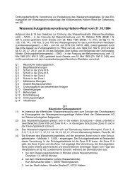 Wasserschutzgebietsverordnung Haltern-West vom 31.10.1984