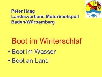 Boot im Winterschlaf - Landesverband Motorbootsport Baden ...
