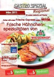 Frische Hähnchen- spezialitäten von - Recker Feinkost GmbH