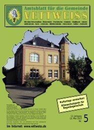 Mai 2013 - Gemeinde Vettweiß