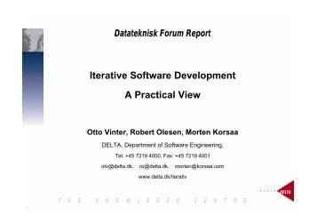 Iterative Software Development A Practical View
