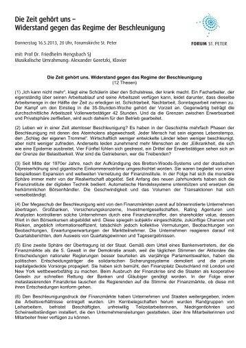 PDF Download - FORUM ST. PETER in Oldenburg