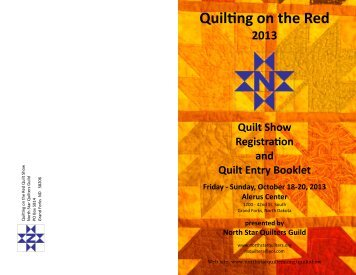 Quilting on the Red - North Star Quilters Guild