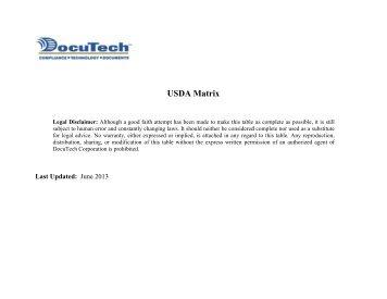 USD DA Matrix x - DocuTech