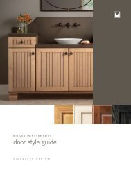 door style guide - Lifestyle Kitchens & Baths