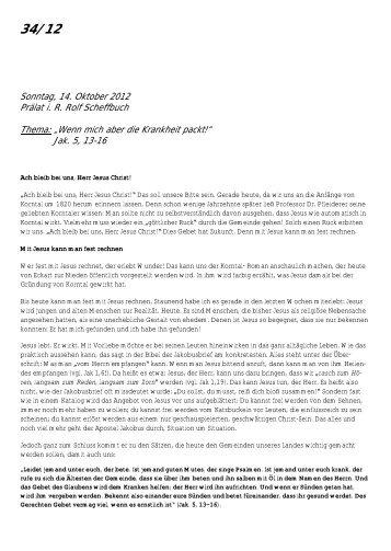 Jak. 5, 13-16 - Brüdergemeinde Korntal