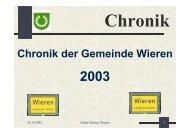 Chronik der Gemeinde Wieren - Samtgemeinde Aue