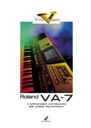 VA-7 V-Arranger Keyboard Brochure (PDF)