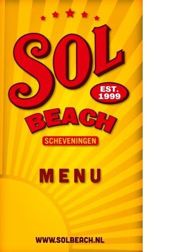 Menu deel 1 - Strandtent Solbeach Scheveningen