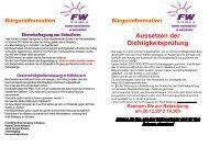 Aussetzen der Dichtigkeitsprüfung - Freie Waehler Wegberg