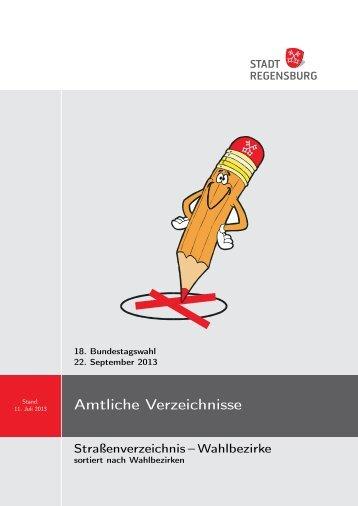 sortiert nach Wahlbezirken - Statistik - Stadt Regensburg
