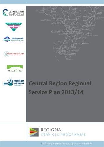 Regional Services Plan - Central Region's Technical Advisory ...