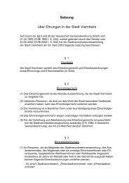 Satzung über Ehrungen in der Stadt Viernheim