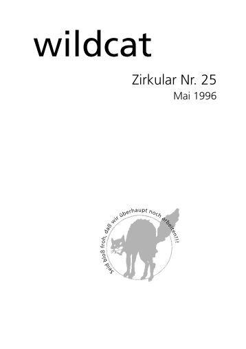 Wildcat-Zirkular Nr. 25, Mai 1996
