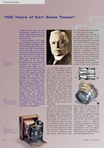 100 Years of Carl Zeiss Tessar® - Carl Zeiss, Inc.