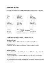Konstitution (R. Ernst) Konstitutionsqualitäten in den Funktionskreisen
