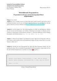 Weiterf ¨uhrendes Programmieren Programmierwerkzeuge und ...