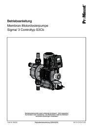 Membran-Motordosierpumpe Sigma/ 3 S3Cb (Controltyp) - ProMinent