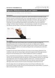 Digitales Whiteboard für PC und Tablets - johner.org