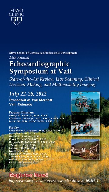Echocardiographic Symposium at Vail State-of-the-Art ... - Mayo Clinic